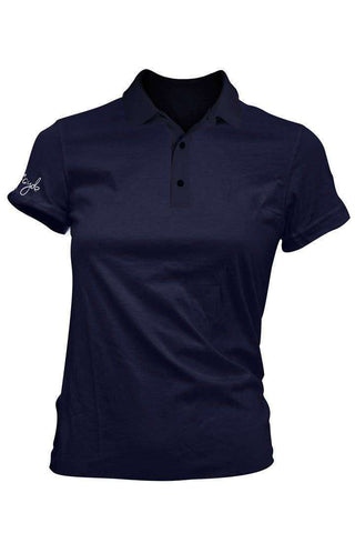 Fayde Red T Polo - Navy ladies polo www.remixd.co.uk Fayde