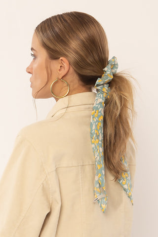 Amuse society Swept away woven scrunchie- slate