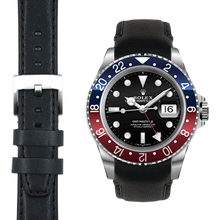Load image into Gallery viewer, Everest Curved End Leather Strap with Tang Buckle for Rolex Sports Models