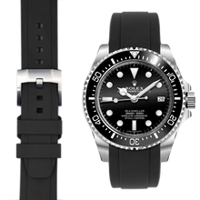Load image into Gallery viewer, Everest Curved End Rubber Strap with Tang Buckle for Rolex Sea-Dweller 4000, Air-King and Milgauss Models