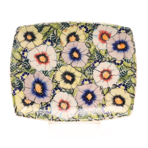 "9""x7"" Rectangular Plate. Pattern: Citrus"