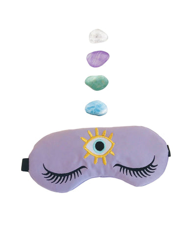 Weighted Amethyst Healing Crystal Sleep Mask