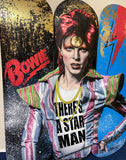 David Bowie Star man Skateboard decks by Mr Sly