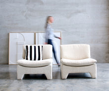 Afbeelding in Gallery-weergave laden, Retro Lounge Fauteuil Boucle Creme