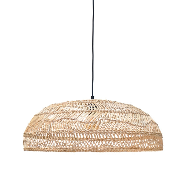 Wicker Hanglamp Flat Naturel
