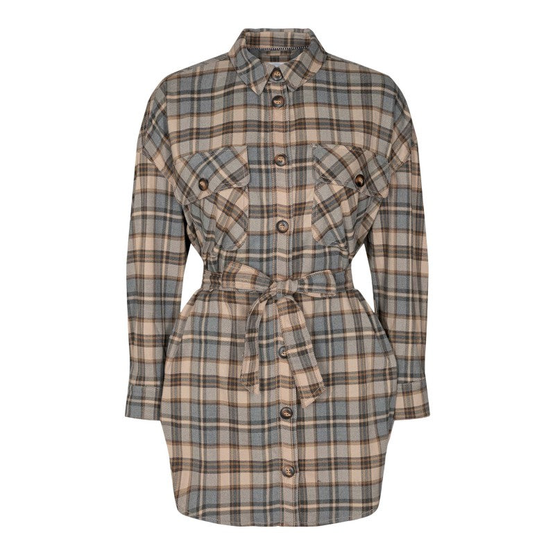 Luu Check Blouse