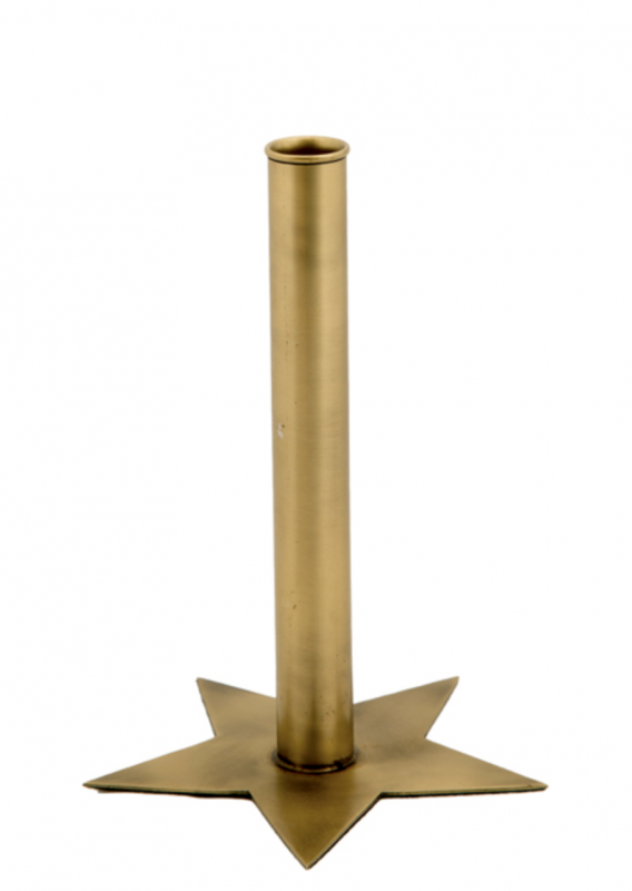 Star Candle Holder L Gold