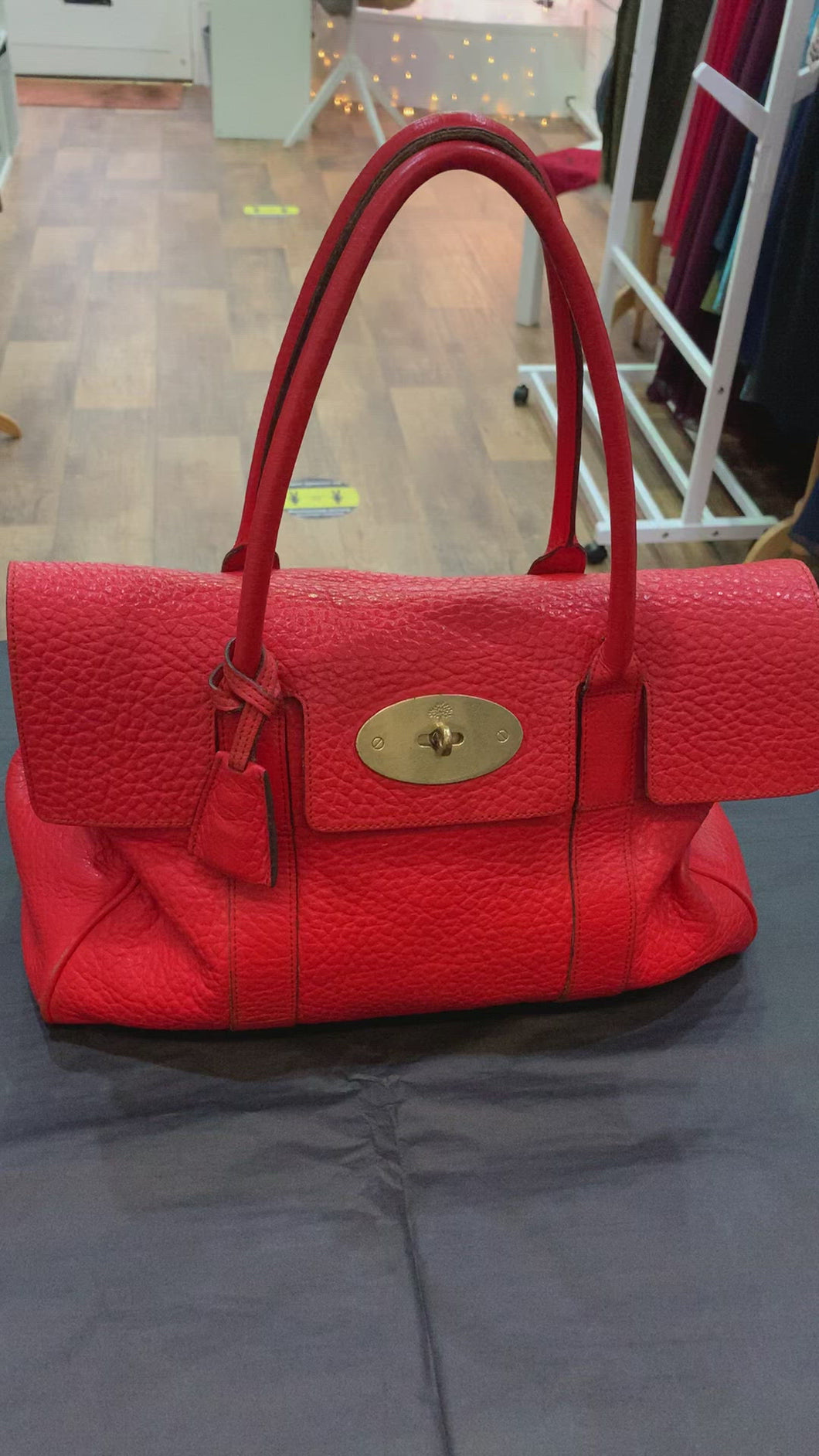 Mulberry Coral Orange Bayswater
