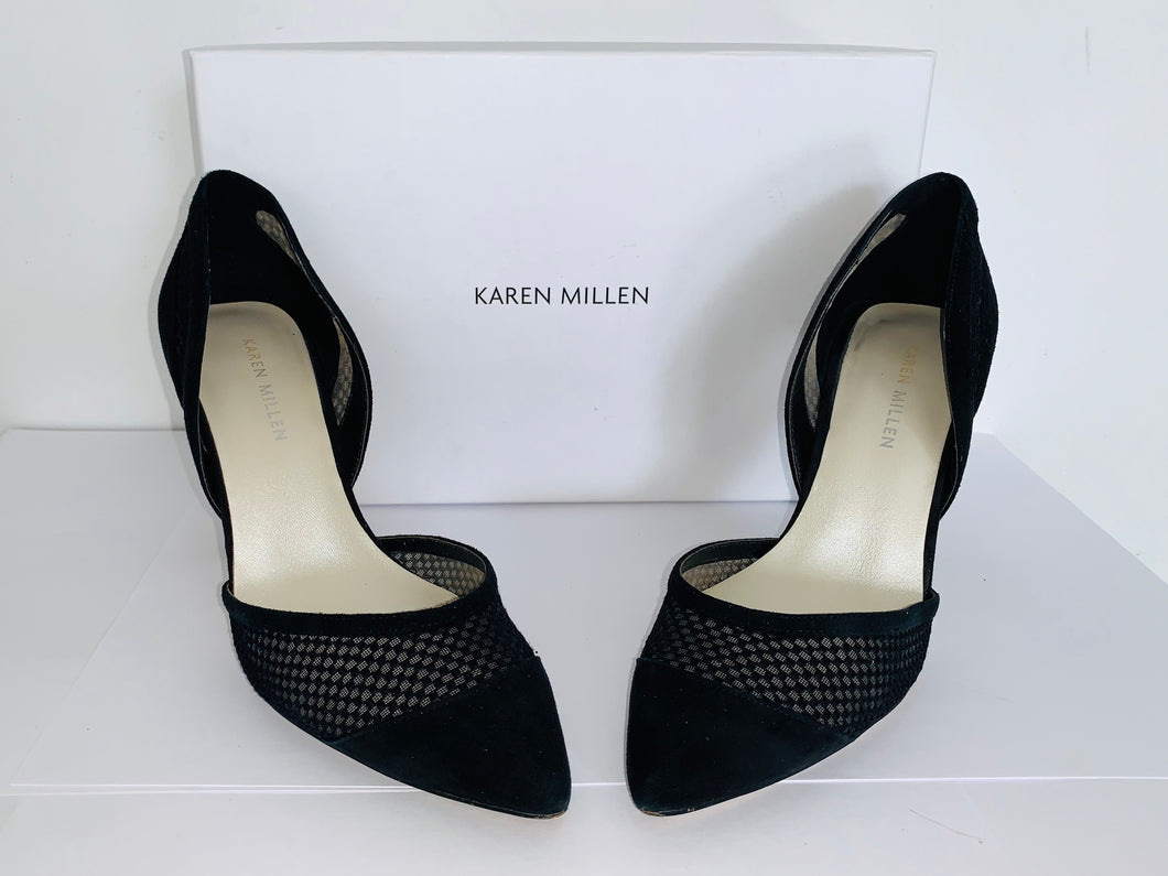 Karen Millen Black Mesh Stiletto UK5