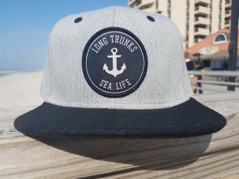 """Sea Life"" Grey Heather,Black/Black"