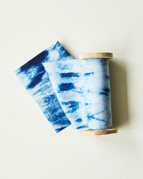 Indigo River - a mindful Shibori silk ribbon inspired by a Cornish river