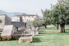 Casa Benaglip in Spain intimate wedding venue view from olive groves