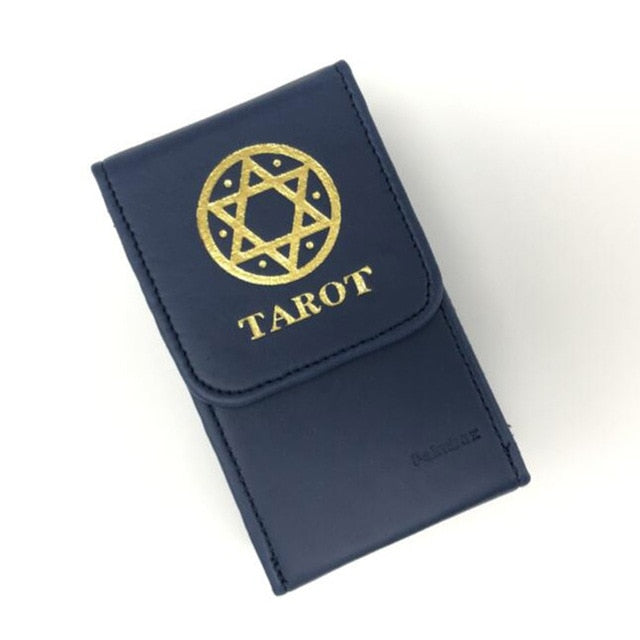 Photo of luxury PU Leather blue color Tarot Card bo