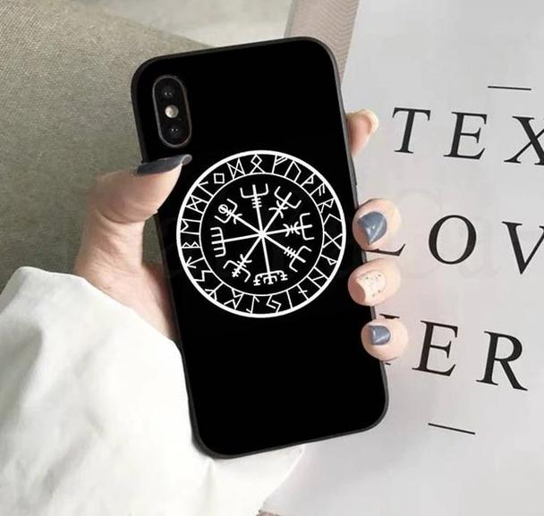 Nordic/Viking Rune iPhone case - features Vegvisir which symbolises protection, strength and 'wayfinding' or finding your way