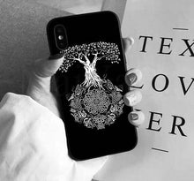 Load image into Gallery viewer, Photo of iphone case with Yggdrasil the sacred tree
