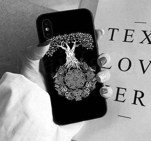 Photo of iphone case with Yggdrasil the sacred tree