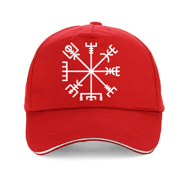 Photo of Red Cap featuring Viking or Nordic Compass Vegvisir