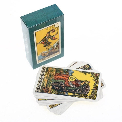 Photo of the Centennial Edition of the Smith-Waite-Rider Tarot card deck