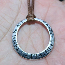 Load image into Gallery viewer, Photo of Nordic Viking rune necklace and amulet basic silver design