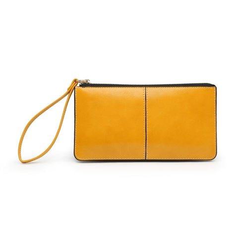 Purse with wrist strap | Yellow