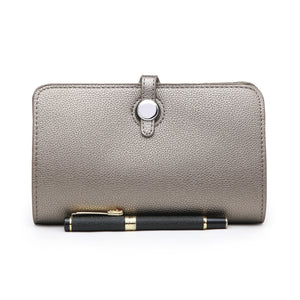 Long Purse/Clutch | Dark Silver