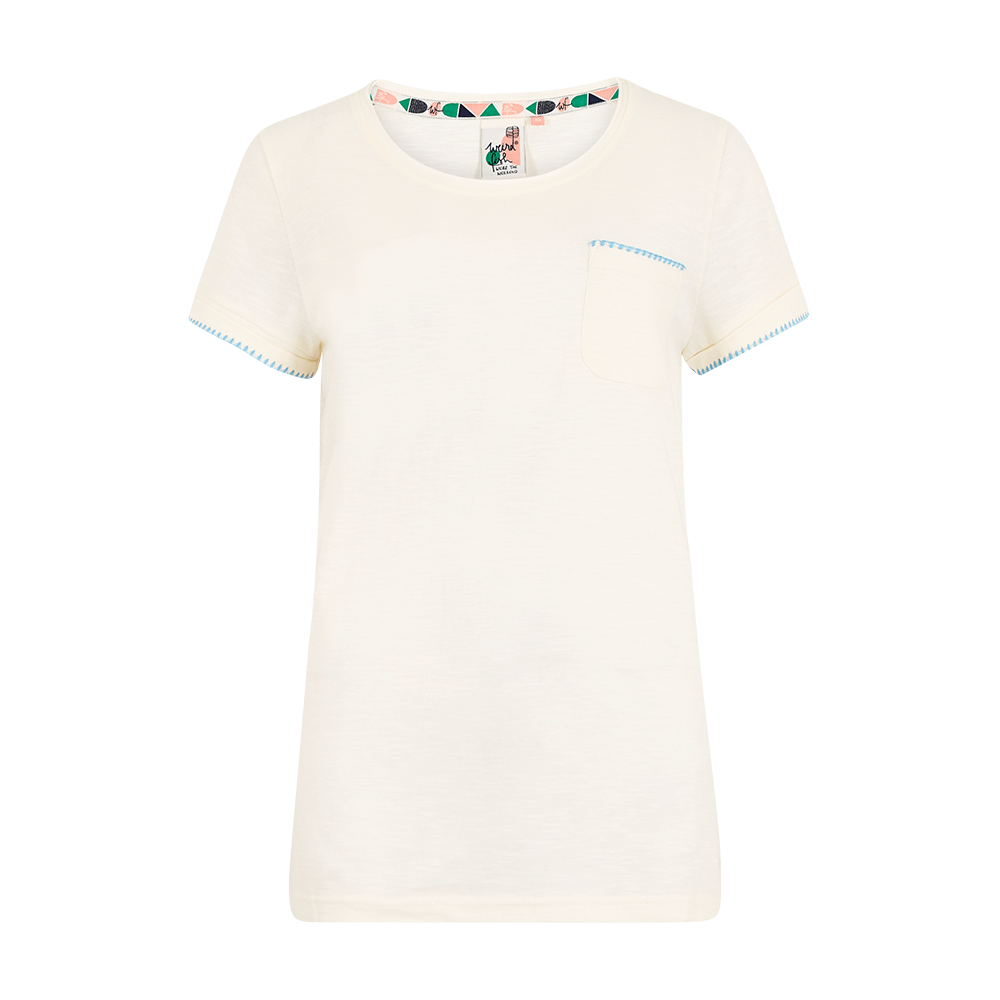 Tenby Slub Cotton T-shirt | Light Cream