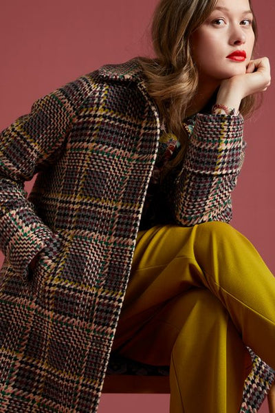 Bonnie Coat Brazza | Beet Red