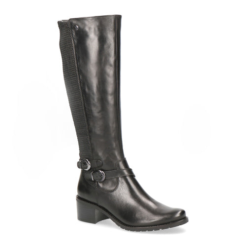 Caprice Long Leather Boot 25545 | Black