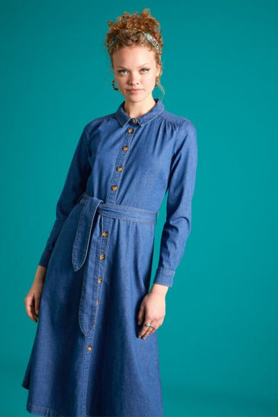 Olive Dress Chambray | River Blue