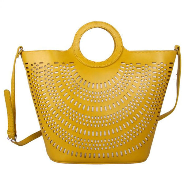 Laser Cut Detailed Tote Bag | Citrus
