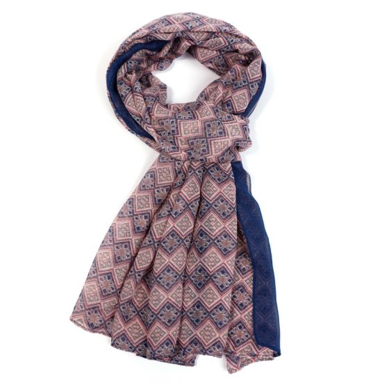 Moroccan Tile Inspired Scarf | Pink