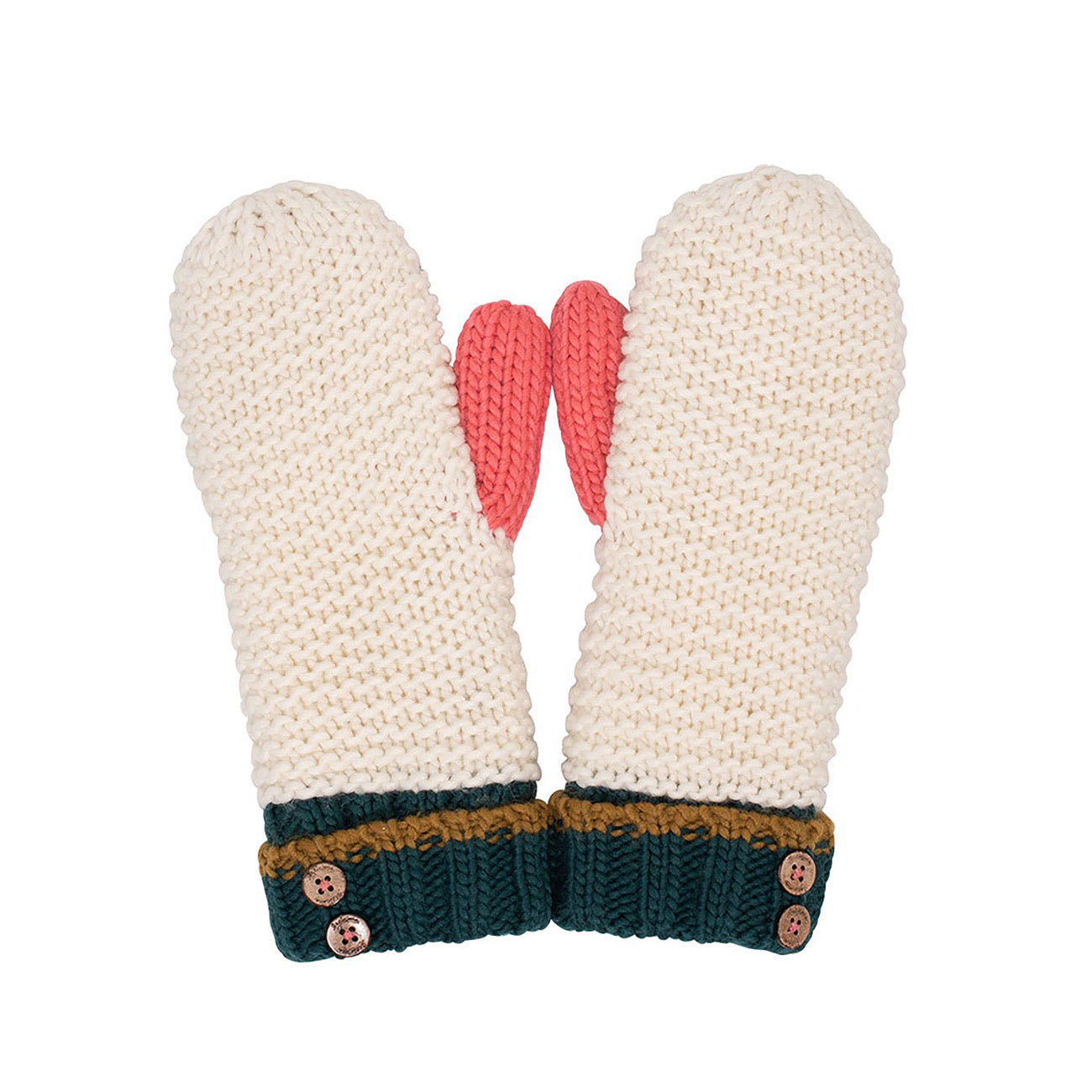 Colour Block Mittens