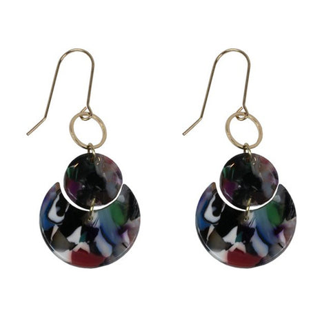 Constance Moon Cycle Resin Earrings | Purple/Blue/Multi