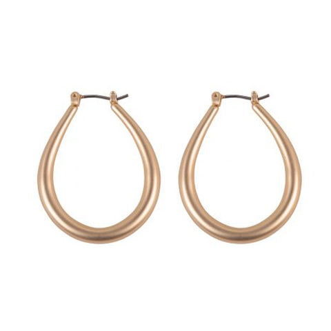 Clarisse Oblong Hoop Earrings