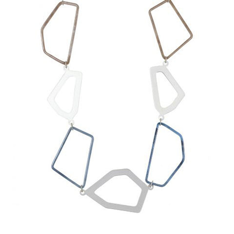 Germaine Geometrical Links Statement Necklace