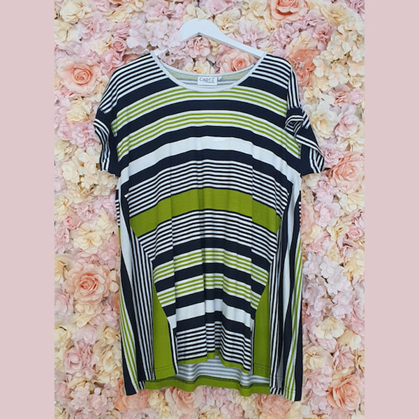 Rock Stripe Oversized Top | Lime
