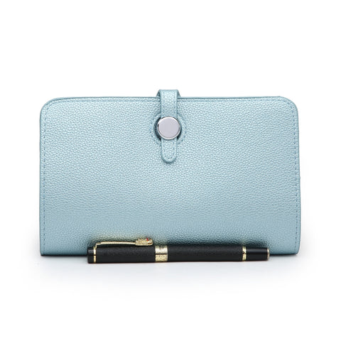 Long Purse/Clutch | Metallic Blue
