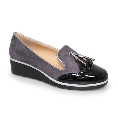 Karina Wedged Slip On Pump | Grey