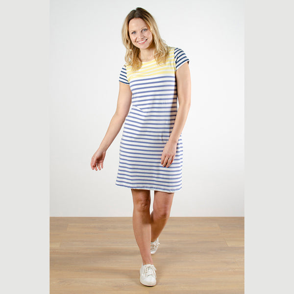 Stripe Dress Engineered Stripe | Cornflower