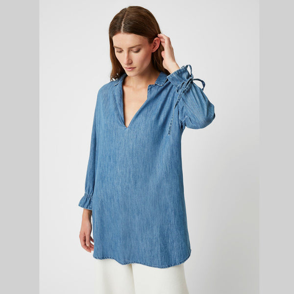 Malvern Denim Tunic Top | Vintage Wash