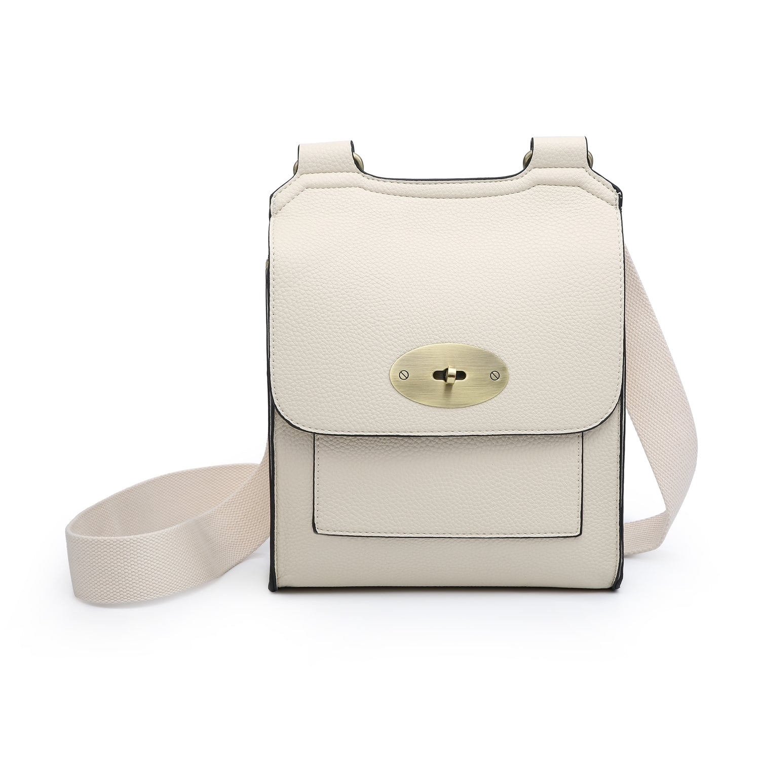 Large Cross Body Satchel Bag | Cream