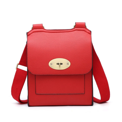 Large Cross Body Satchel Bag | Red