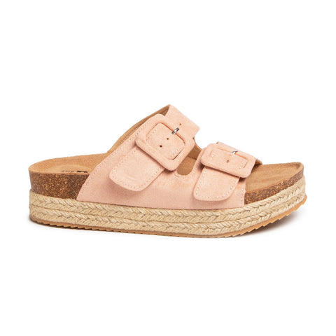 Double Buckle Slider Sandal | 69646 | Nude