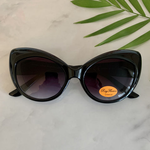 Cat Eye Sunglasses | Black