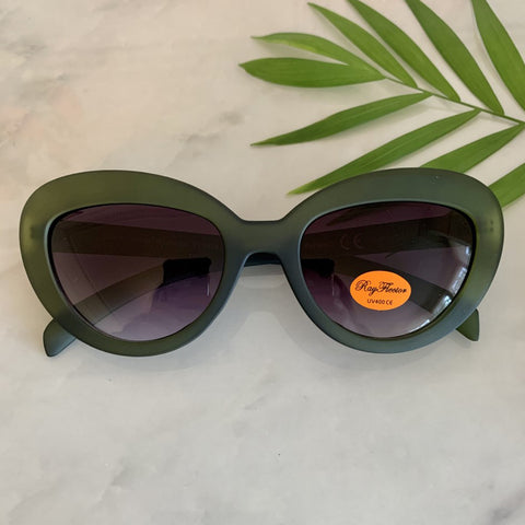 Vintage Inspired Cat Eye Sunglasses | Green