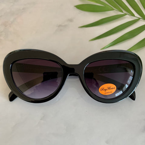 Vintage Inspired Cat Eye Sunglasses | Black