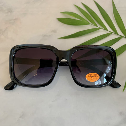 Vintage Square Oversized Sunglasses | Black