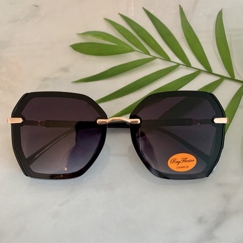 70s Style Oversized Sunglasses | Black