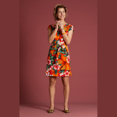 Shirley Dress El Segundo | Popsicle Orange