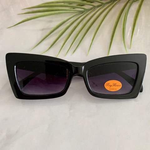 Retro Cat Eye Sunglasses | Black